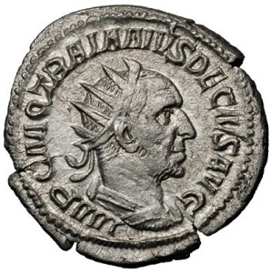 Decius on coin