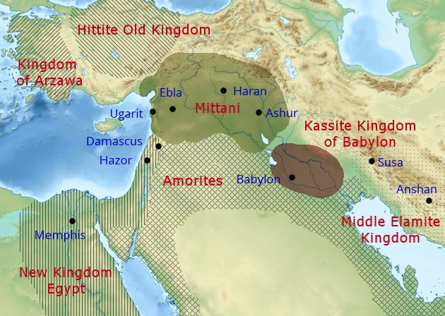Bronze Age Levant. Image: History in the Bible