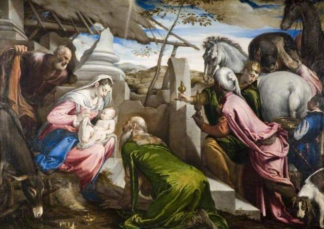 Bassano's Adoration of the Magi (c) The Barber Institute of Fine Arts; Supplied by The Public Catalogue Foundation