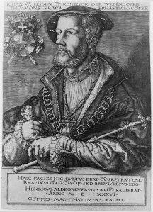 Portrait of Jan van Leiden as King of Münster by Heinrich Aldegrever