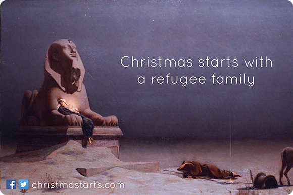 Christmas starts with a refugee family